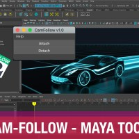 Cam Follow Tool - Quickly Attach Camera to Selected Object in Maya