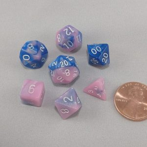 Dice Gemini Mini Myosotis Polyhedral Dice Set