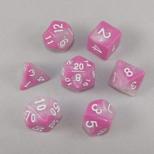 Dice Gemini Pink/White with White Numbers Dice