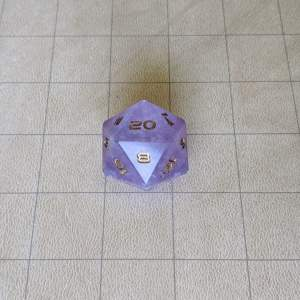 Dice Purple Cloud Jumbo Edged D20