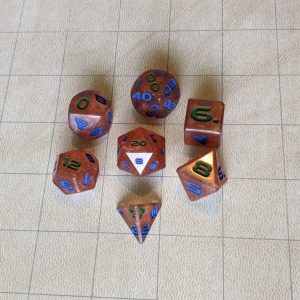 Dice Copper Cloud Edged Dice Set