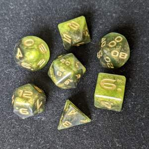 Handmade Dice Acid Cloud Edged Dice Set