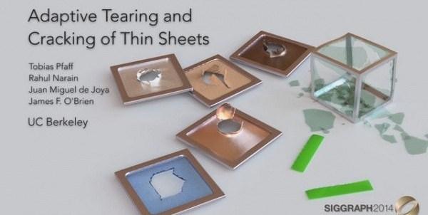 Adaptive Tearing and Cracking of Thin Sheets