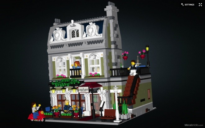 10243-1 Parisian Restaurant mecabricks