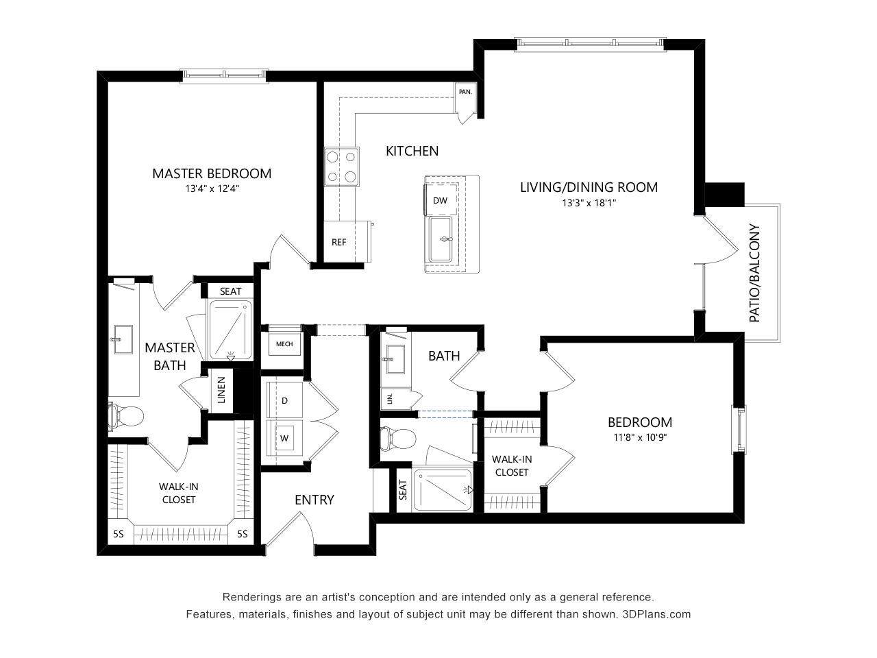 7 Black And White Floor Plans 3dplans