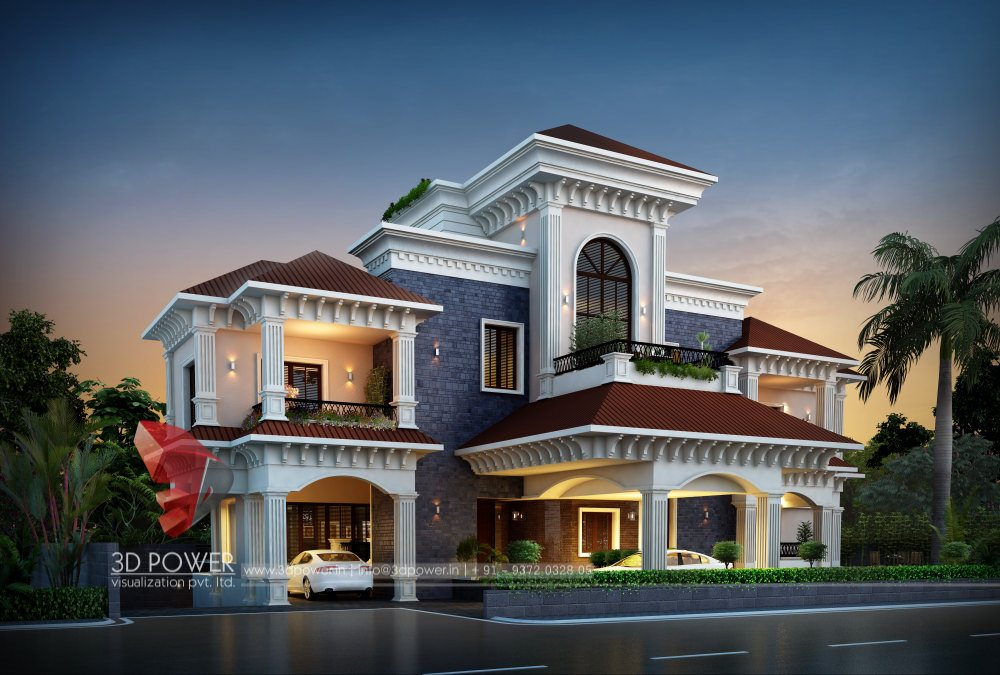 bungalow-rendering-services-evening-view
