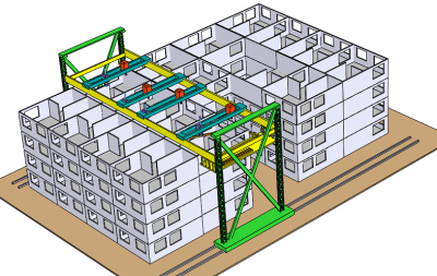 How Khosnevis will construct large multi-story buildings