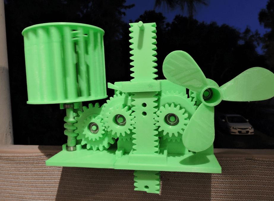 This Incredible 3D Printed Device Stores Wind Energy In