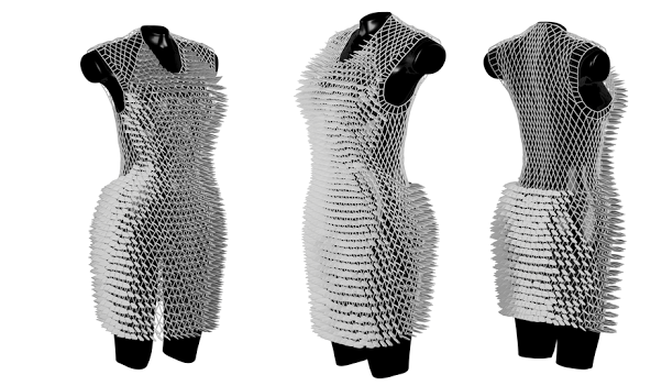 Fashion Student s Dissertation Includes a Beautiful 3D Printed Dress     Fashion Student s Dissertation Includes a Beautiful 3D Printed Dress  Created with Help from Materialise