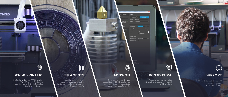 Impresoras 3D, Materiales, Filamentos, Repuestos y soporte técnico oficial.