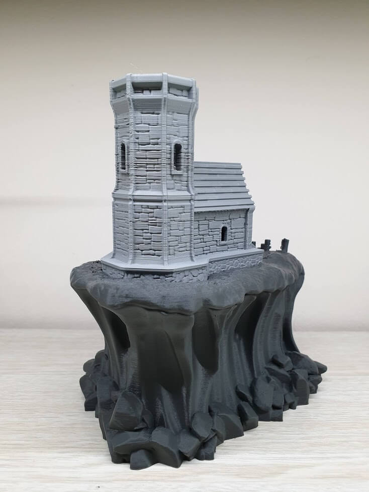 The Elder Lighthouse with Devil Design Dark Grey PLA