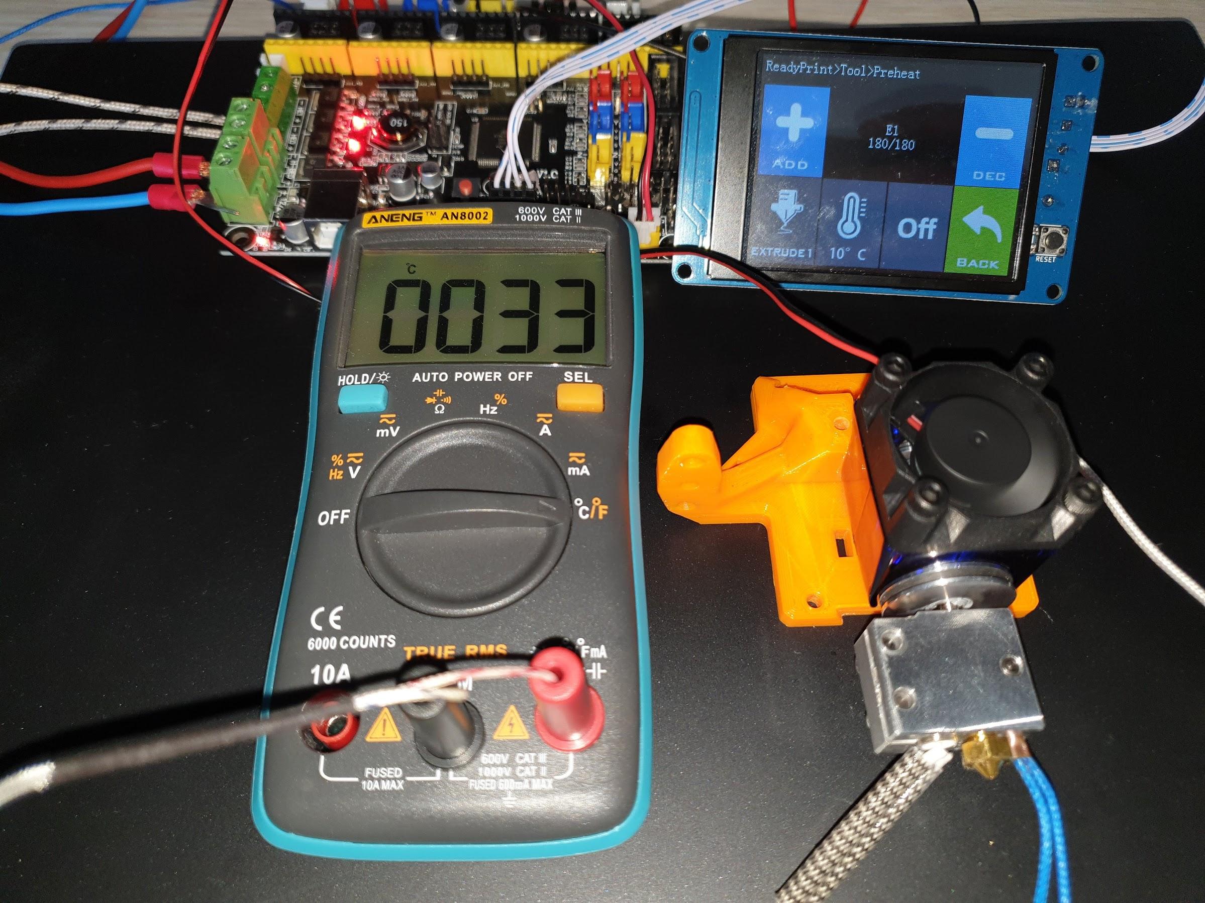 180C Regular Metal V6 Heatsink 10 minutes 33C