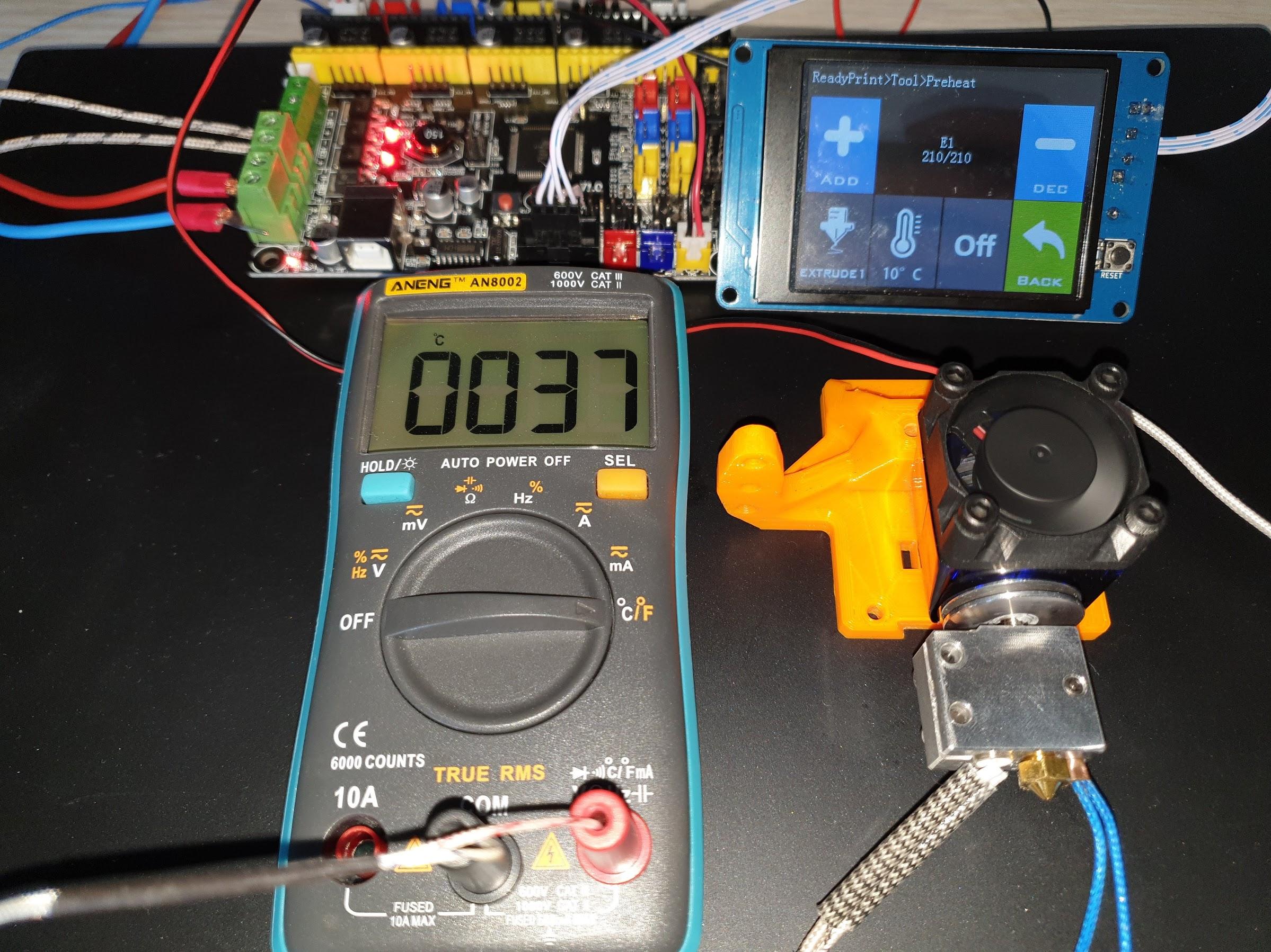 210C Regular Metal V6 Heatsink 10 minutes 37C