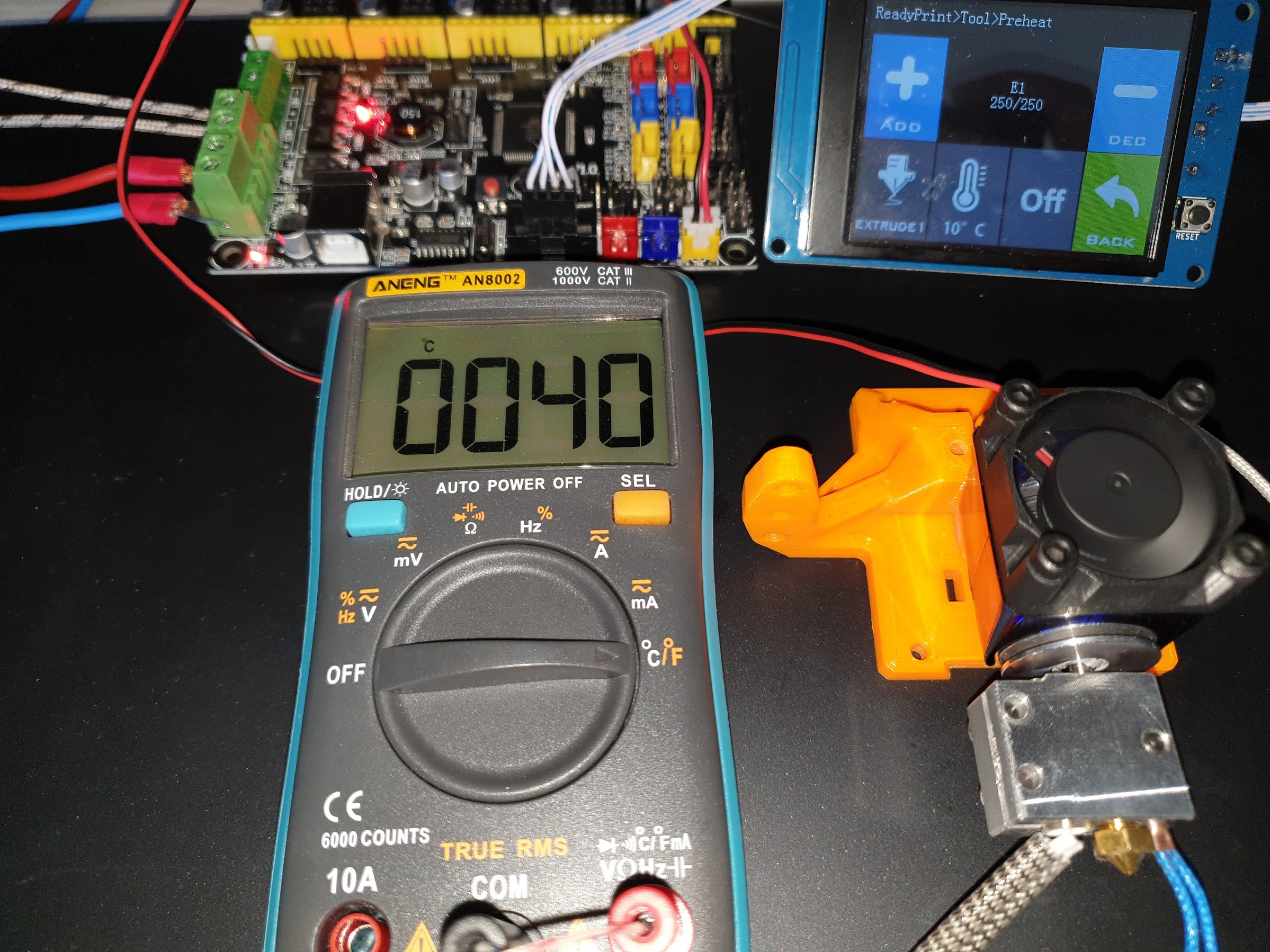 250C Regular Metal V6 Heatsink 10 minutes 40C