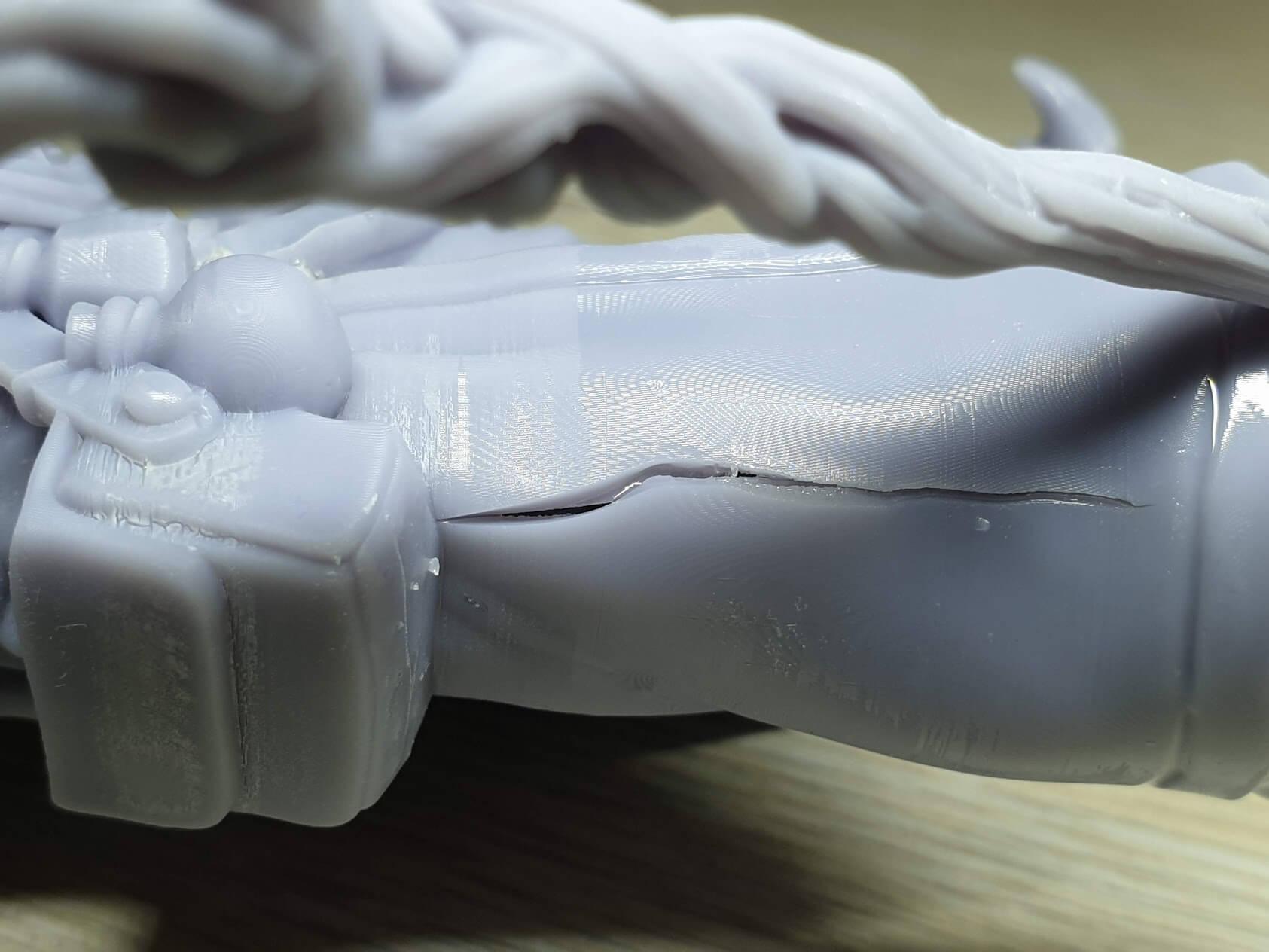 Elegoo Water Washable Resin cracks after print 1 | ELEGOO Water Washable Resin Review