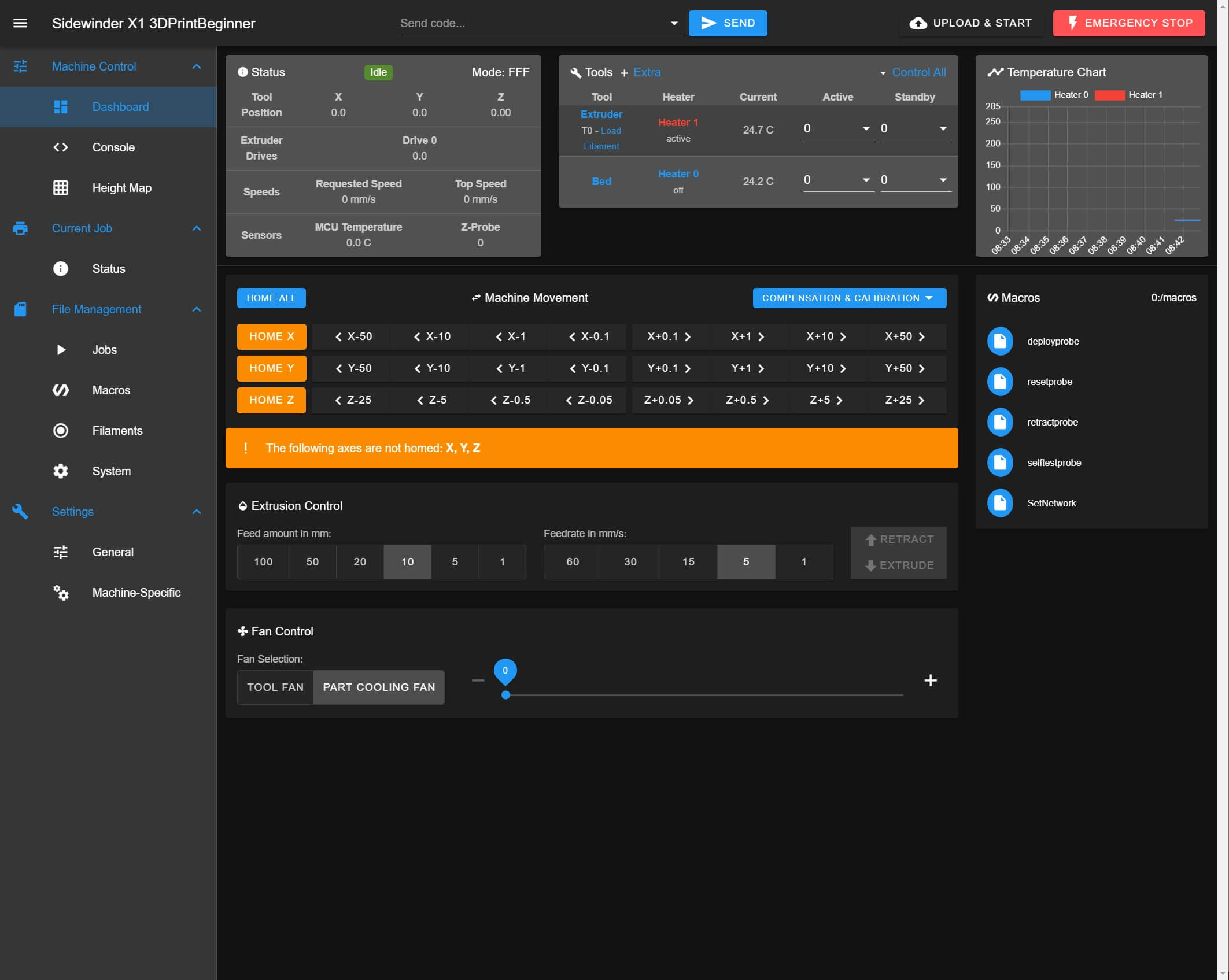 Duet-Web-Control-Sidewinder-X1 RepRap Firmware