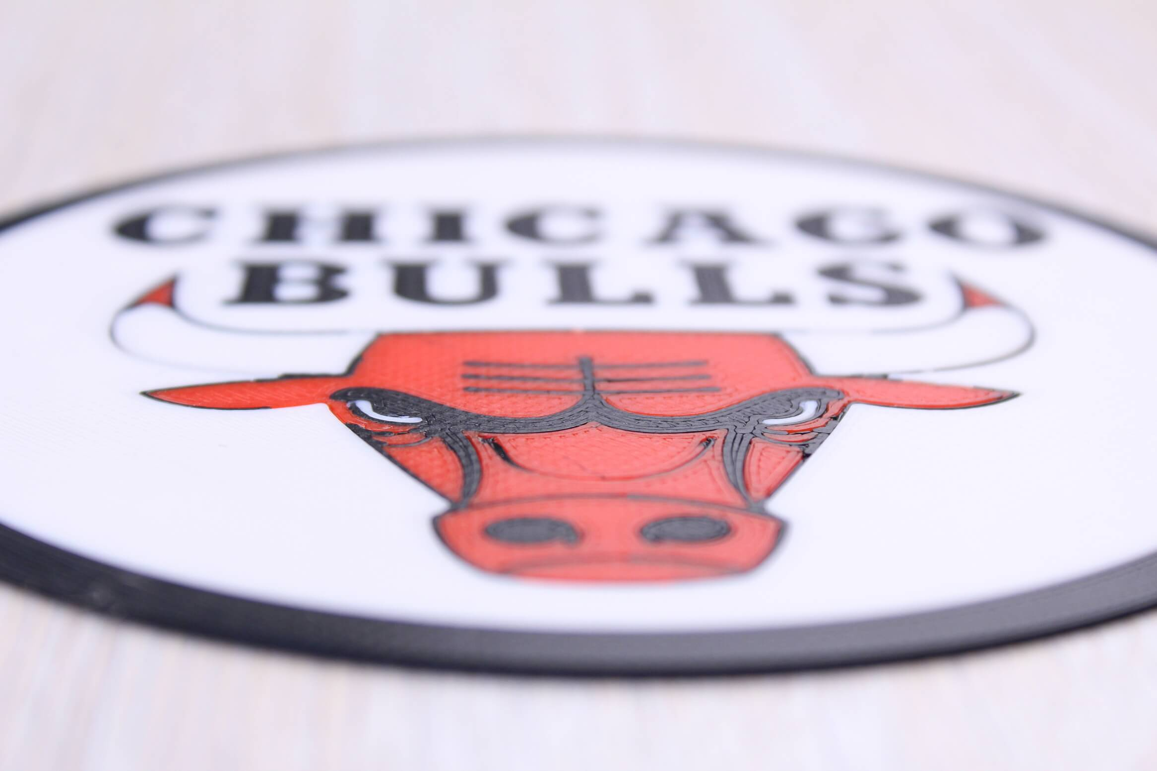 Chicago Bulls sign Multi Color 3D Print 1 | Multi-Color 3D Printing Using IdeaMaker