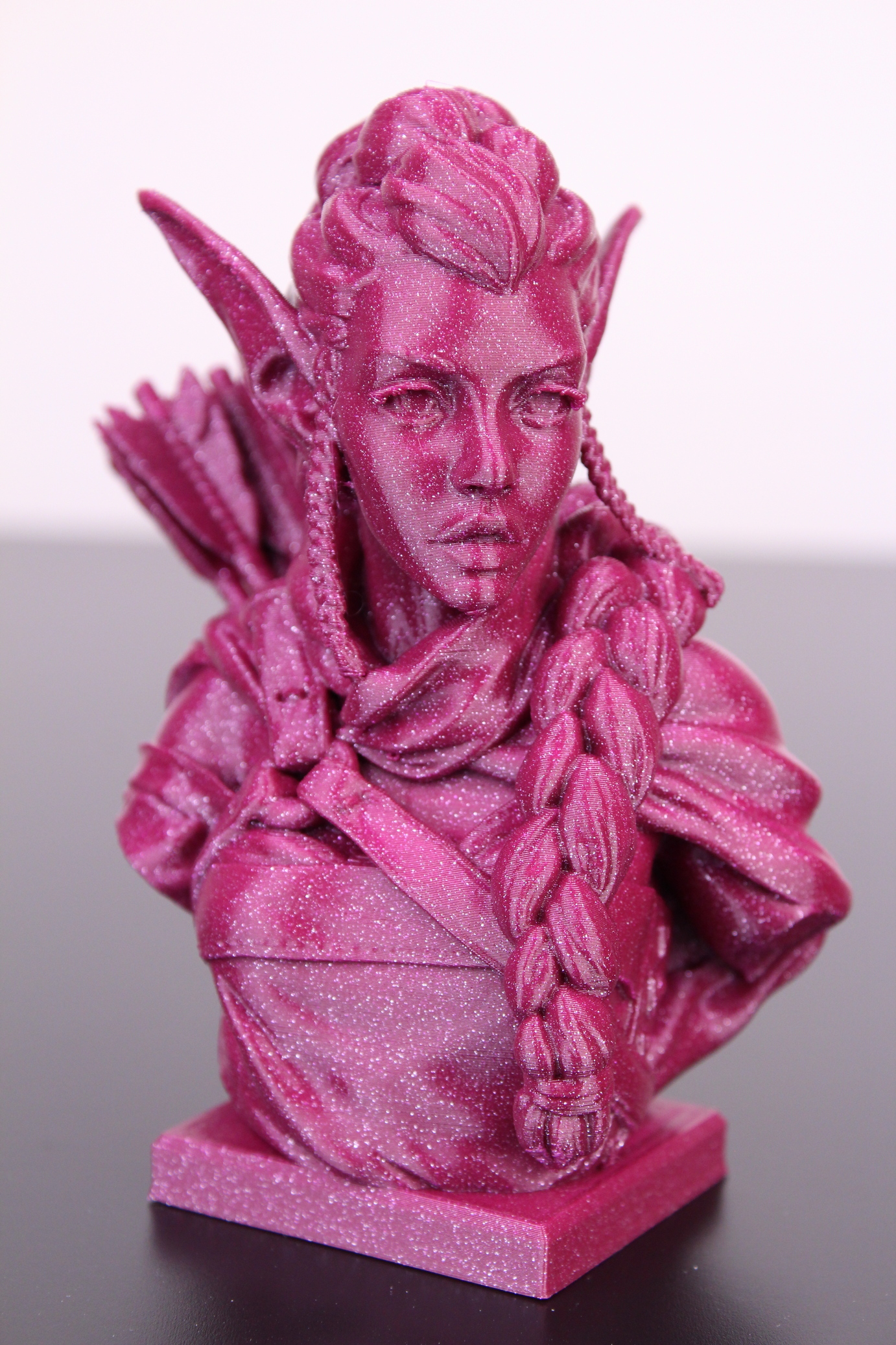 Elf Archer Bust printed on Bluer Plus (1)