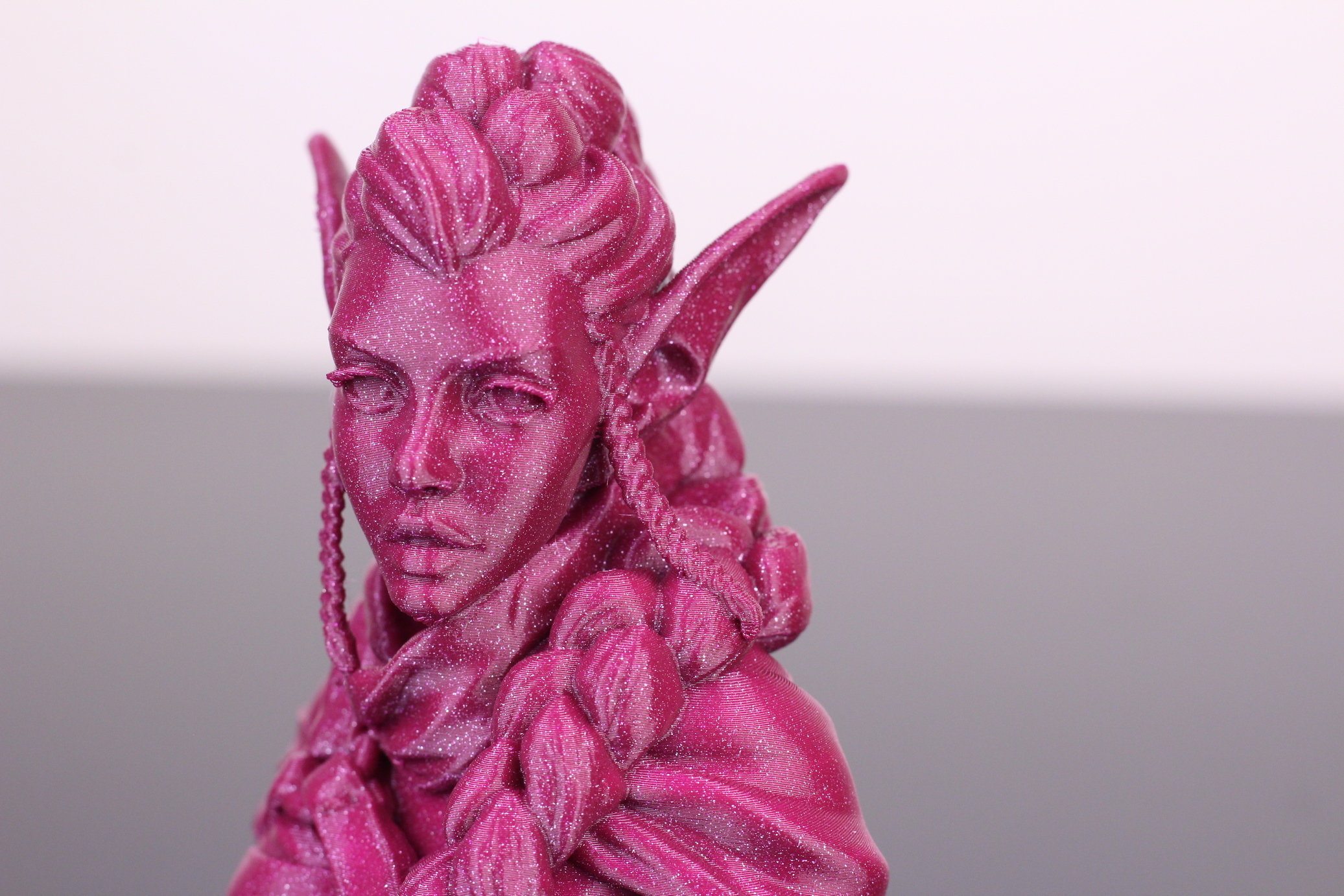 Elf Archer Bust printed on Bluer Plus (2)