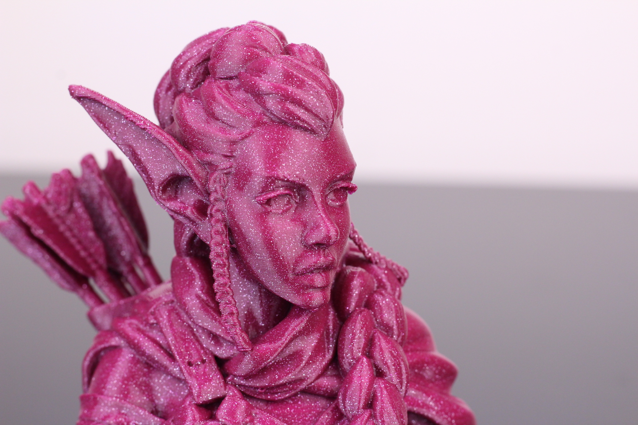 Elf Archer Bust printed on Bluer Plus (3)