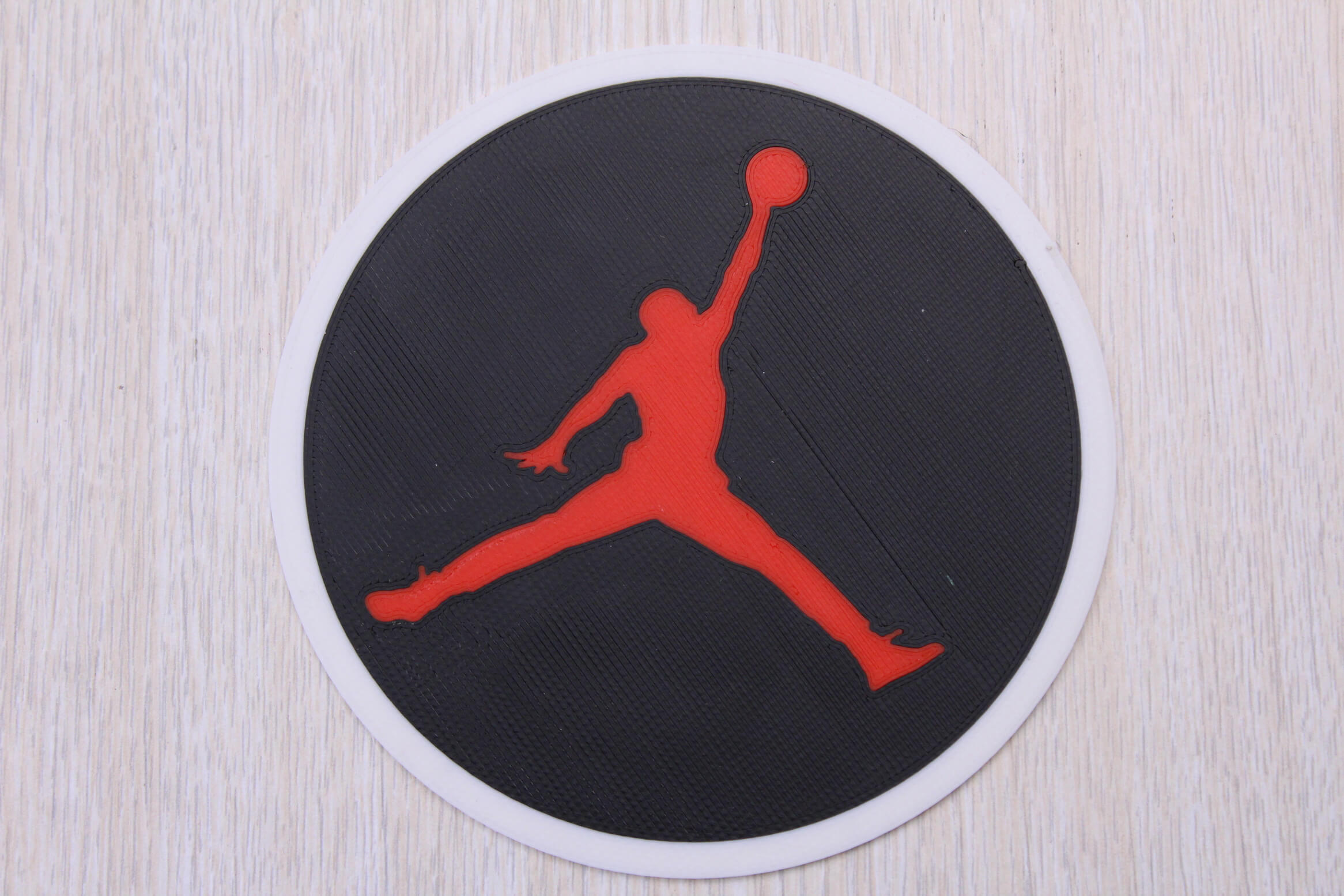 Jordan sign Multi Color 3D Print 1 | Multi-Color 3D Printing Using IdeaMaker