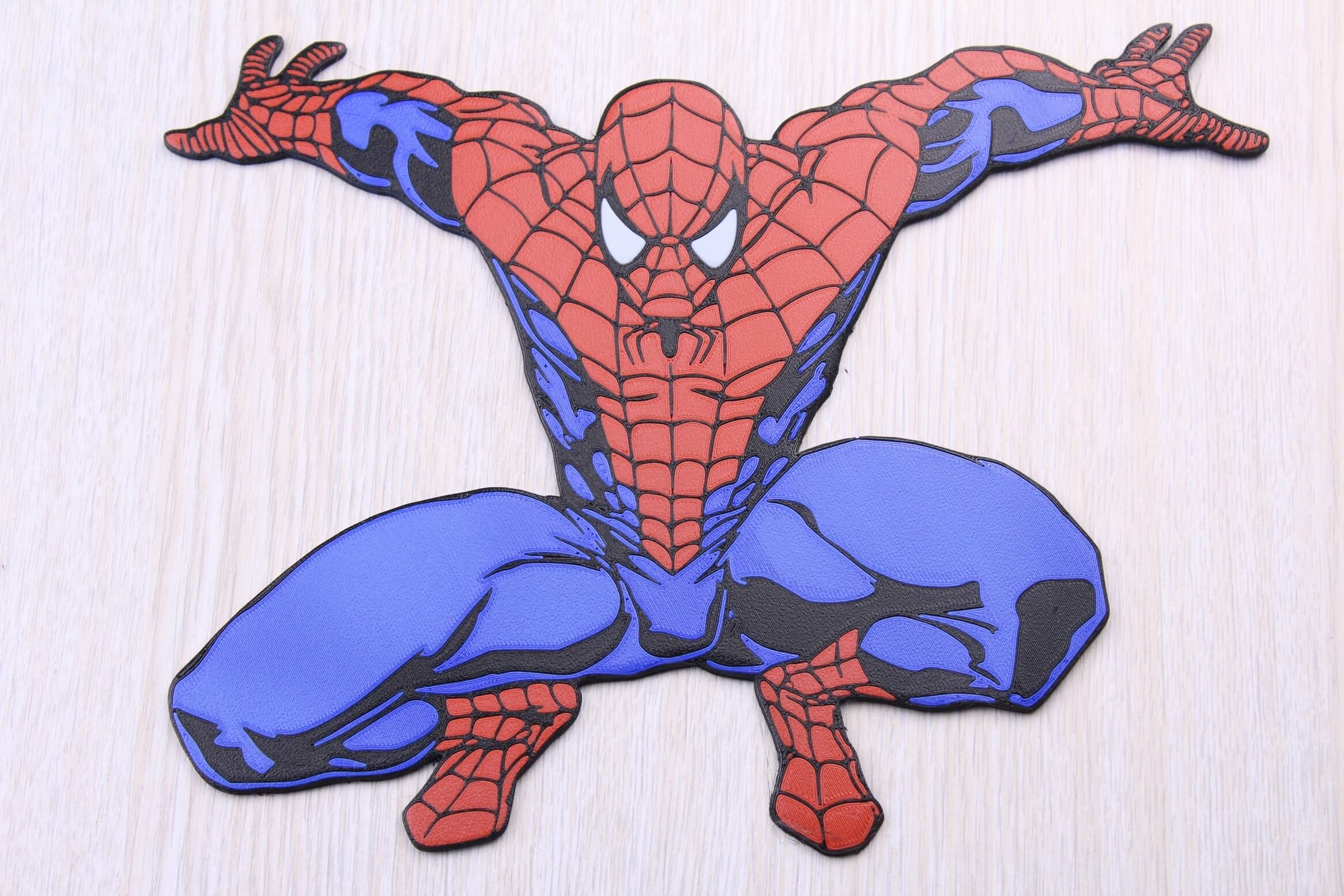 Spiderman Multi Color 3D Print 2 | Multi-Color 3D Printing Using IdeaMaker