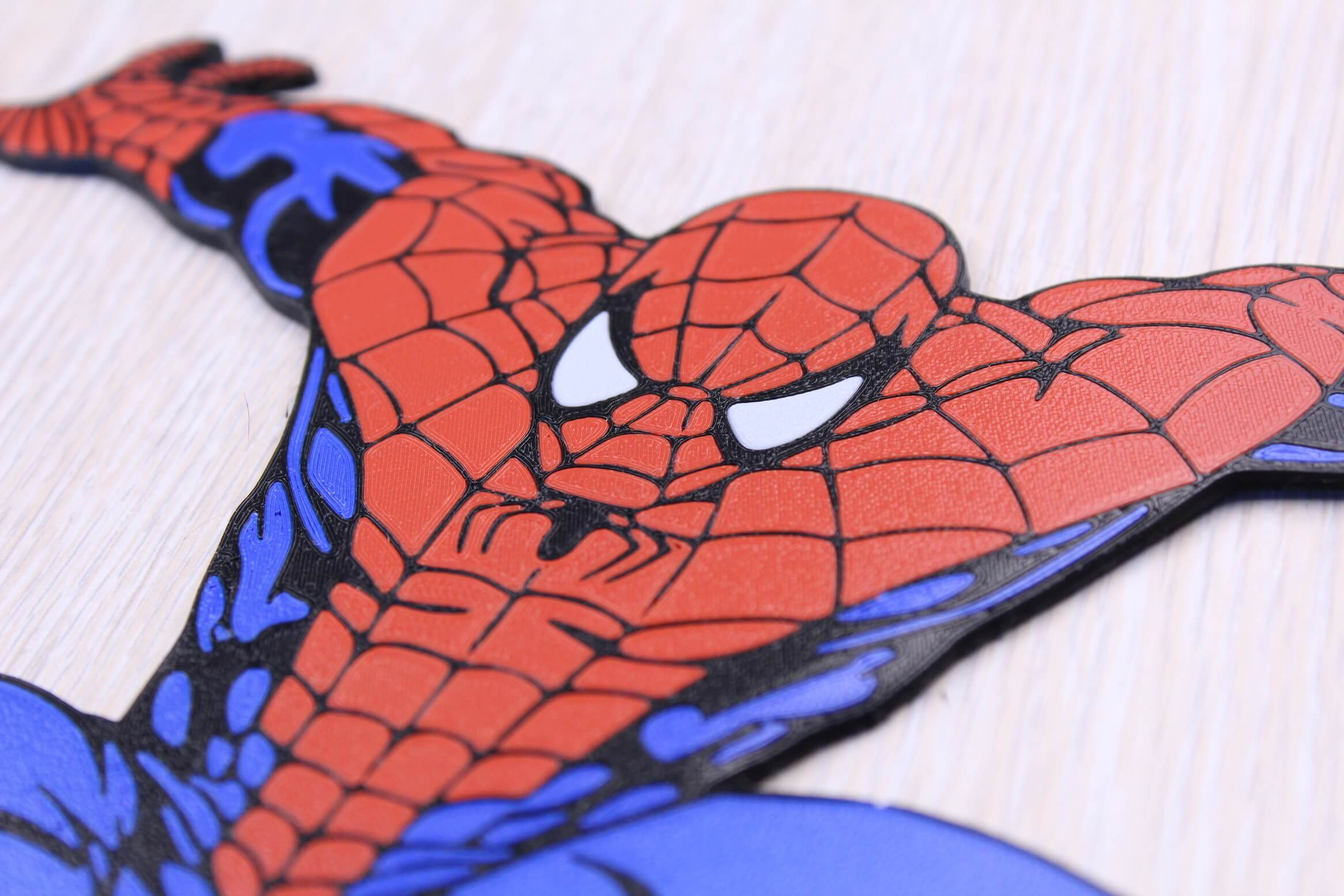 Spiderman Multi Color 3D Print 3 | Multi-Color 3D Printing Using IdeaMaker