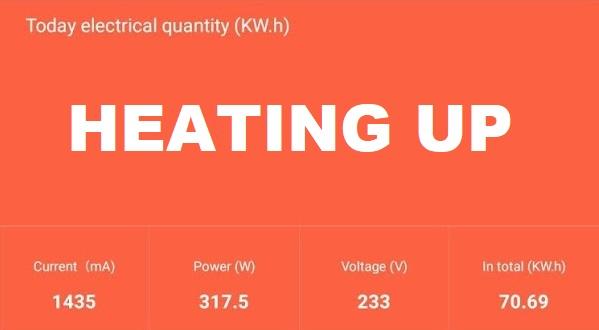 Sermoon-D1-Power-Draw-Heating-Up