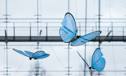 eMotionButterflies flying in formation Source: Festo