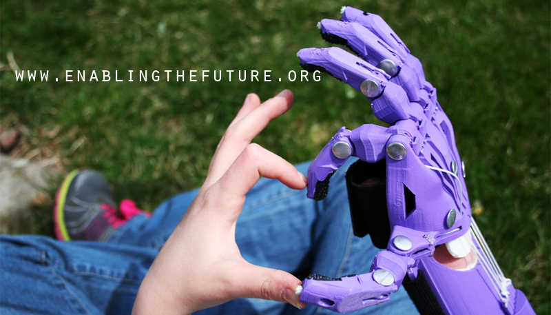 Enabling the Future, 3-D printed hands, prosthetic hands, Ivan Owen