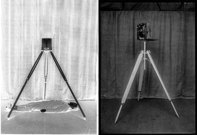 Alphonse Bertillon's overhead metric camera used on crime scenes Photo via: francesguerin