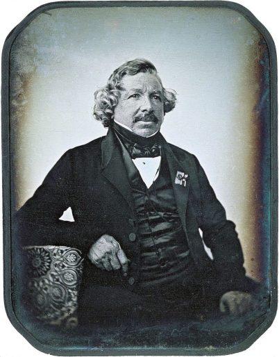 Daguerreotype portait of the inventor Louis-Jaques-Mandé Image by: Jean Baptiste Sabatier Blot