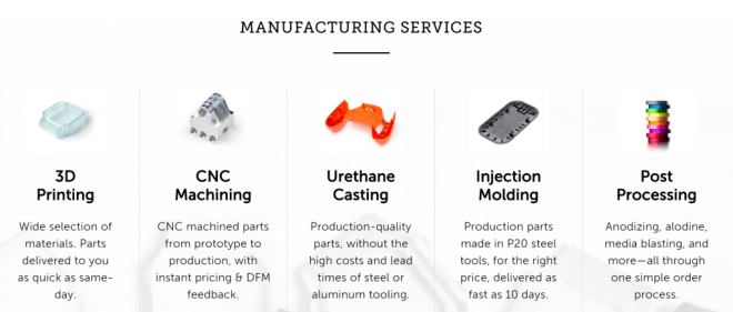 Fictiv digital manufacturing services. Image via Fictiv.