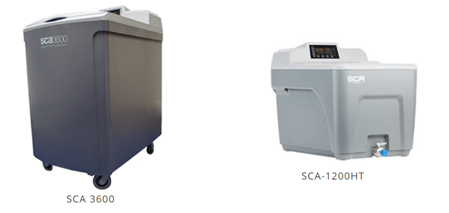 The image shows SCA-1200HT and SCA 3600, PADT's two support cleaning system. Image via PADT
