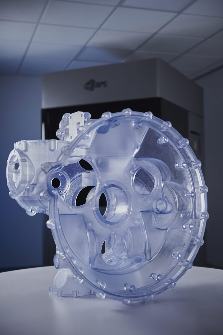 Gearbox model created on the NEO800. Photo via RPS.