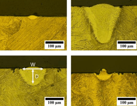 Various types of melting characteristics AF9628. Image via Texas A&M.