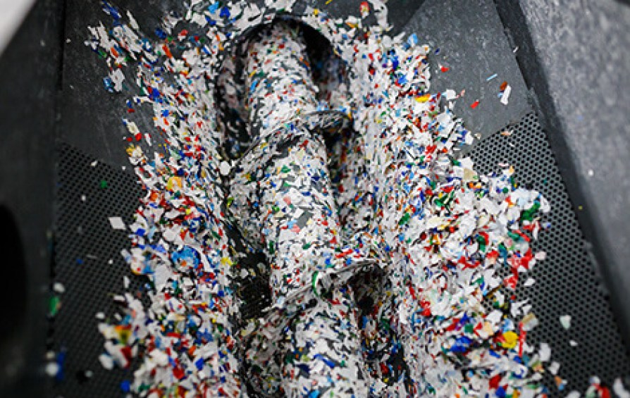 As part of its circular economy program, some of Covestro's new materials will be made from recycled plastic waste. Photo via Covestro.