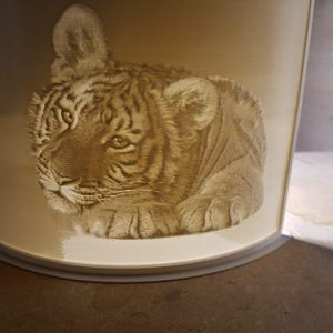 Tiger Laying Down Lithophane