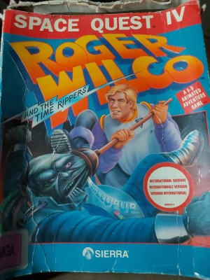 Space Quest IV amiga Boxed (damaged)
