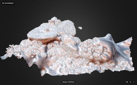 3D model of a reef area