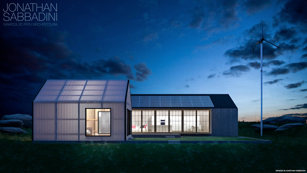 Architettura moderna e materiale traslucido – studio