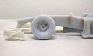 Großaufnahme des maßstabsgetreuen Modells des Formel-1-Autos