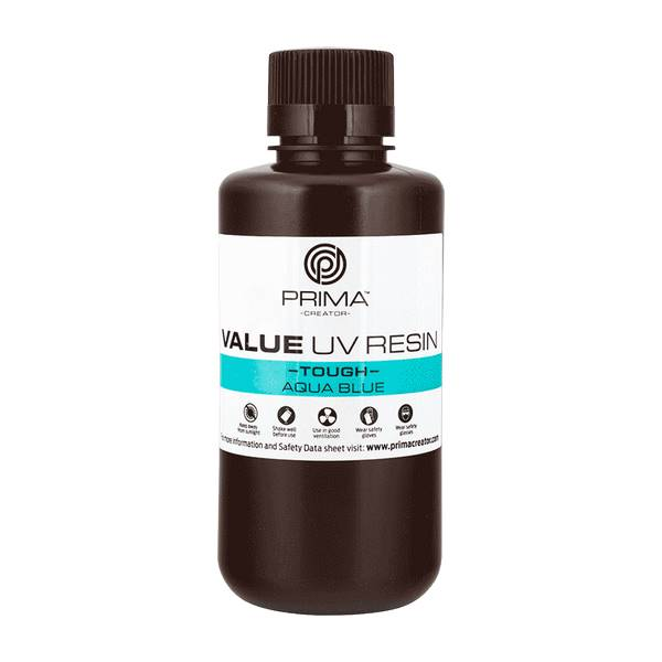 TOUGH UV DLP Resin AQUA BLUE 500ml - PrimaCreator