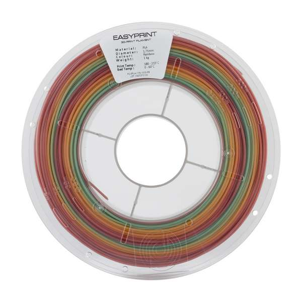 EasyPrint PLA filament Rainbow 1.75mm 1000g
