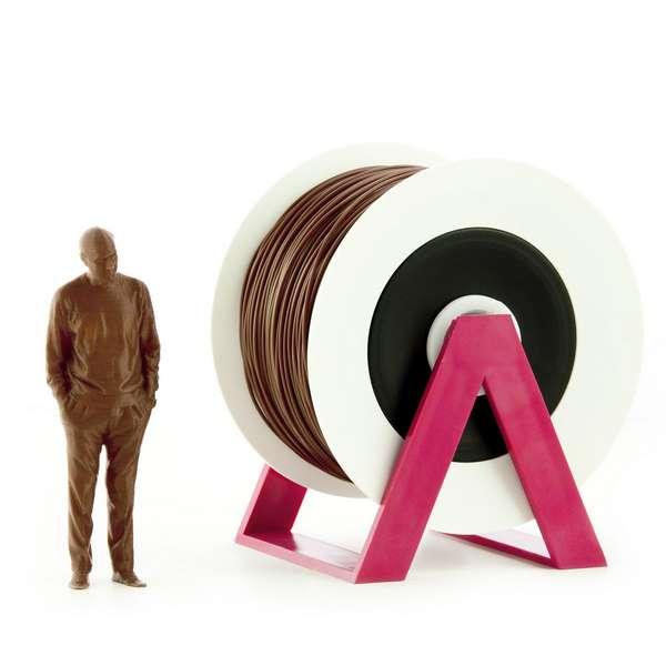 EUMAKERS PLA filament Dark Brown 1.75mm 1000g