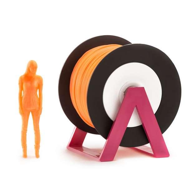 EUMAKERS PLA filament Fluorescent Orange 1.75mm 1000g