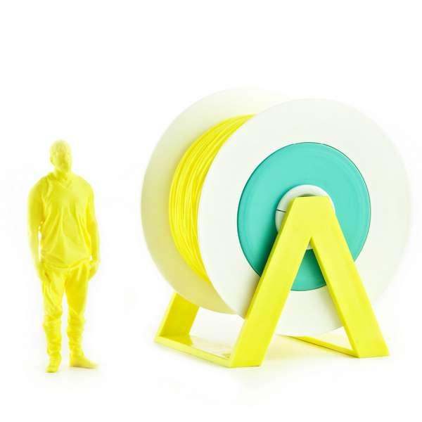 EUMAKERS PLA filament Vivid Yellow 1.75mm 1000g