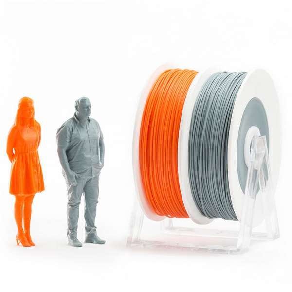 EUMAKERS PLA filament Orange Grey 2.85mm 2 x 500g