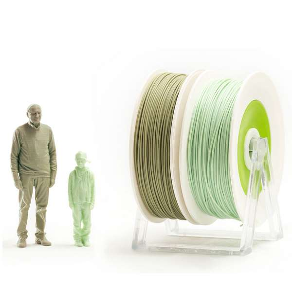 EUMAKERS PLA filament EUBIO/2Life PASTEL GREEN | MILITARY GREEN 1.75mm 2 x 500g