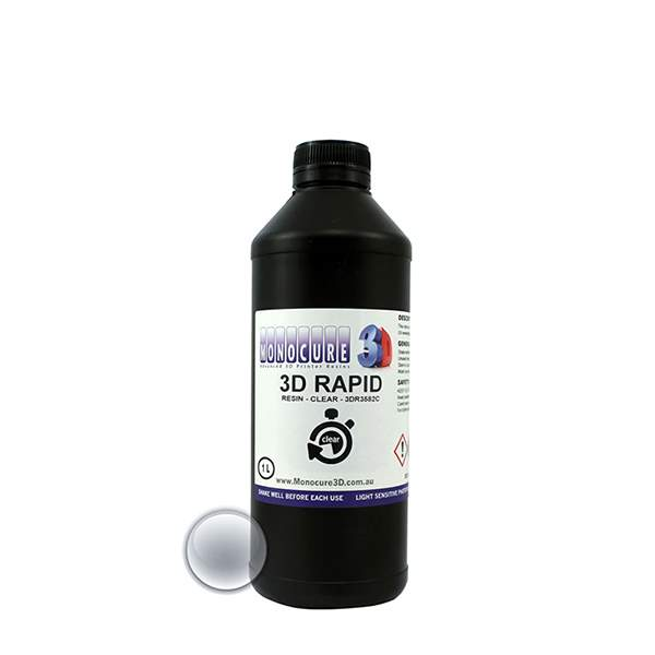 RAPID Resin CLEAR 500ml - Monocure3D